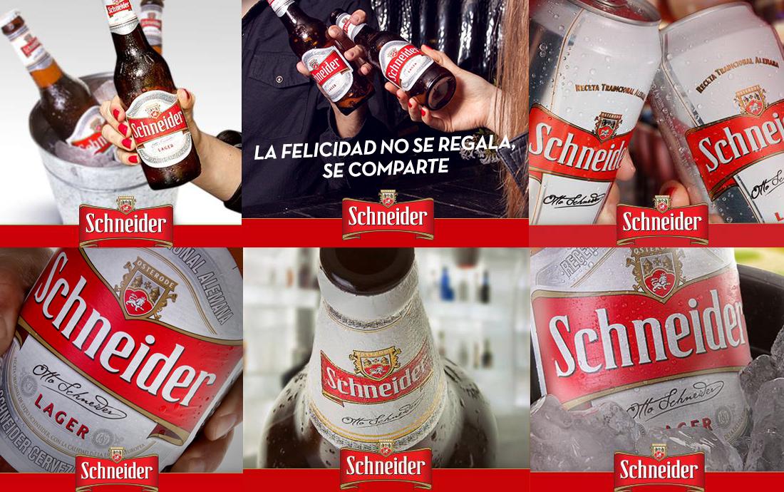 Contenido para Redes sociales para Cerveza Schneider Okdesign