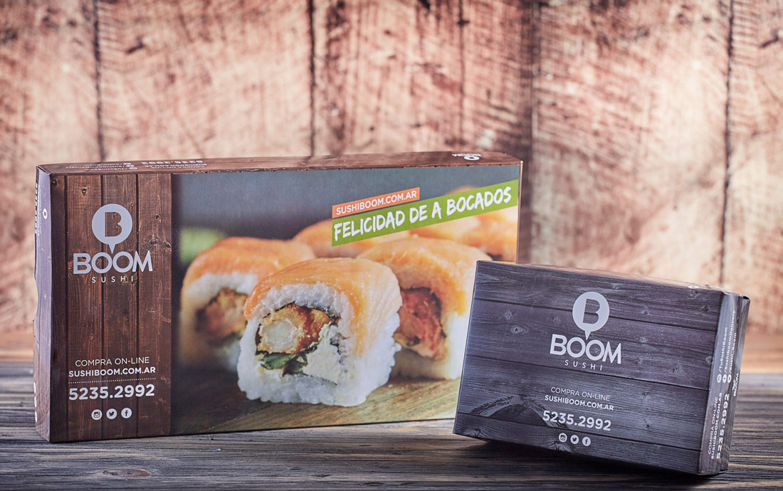 Sushi Boom packaging by Okdesign